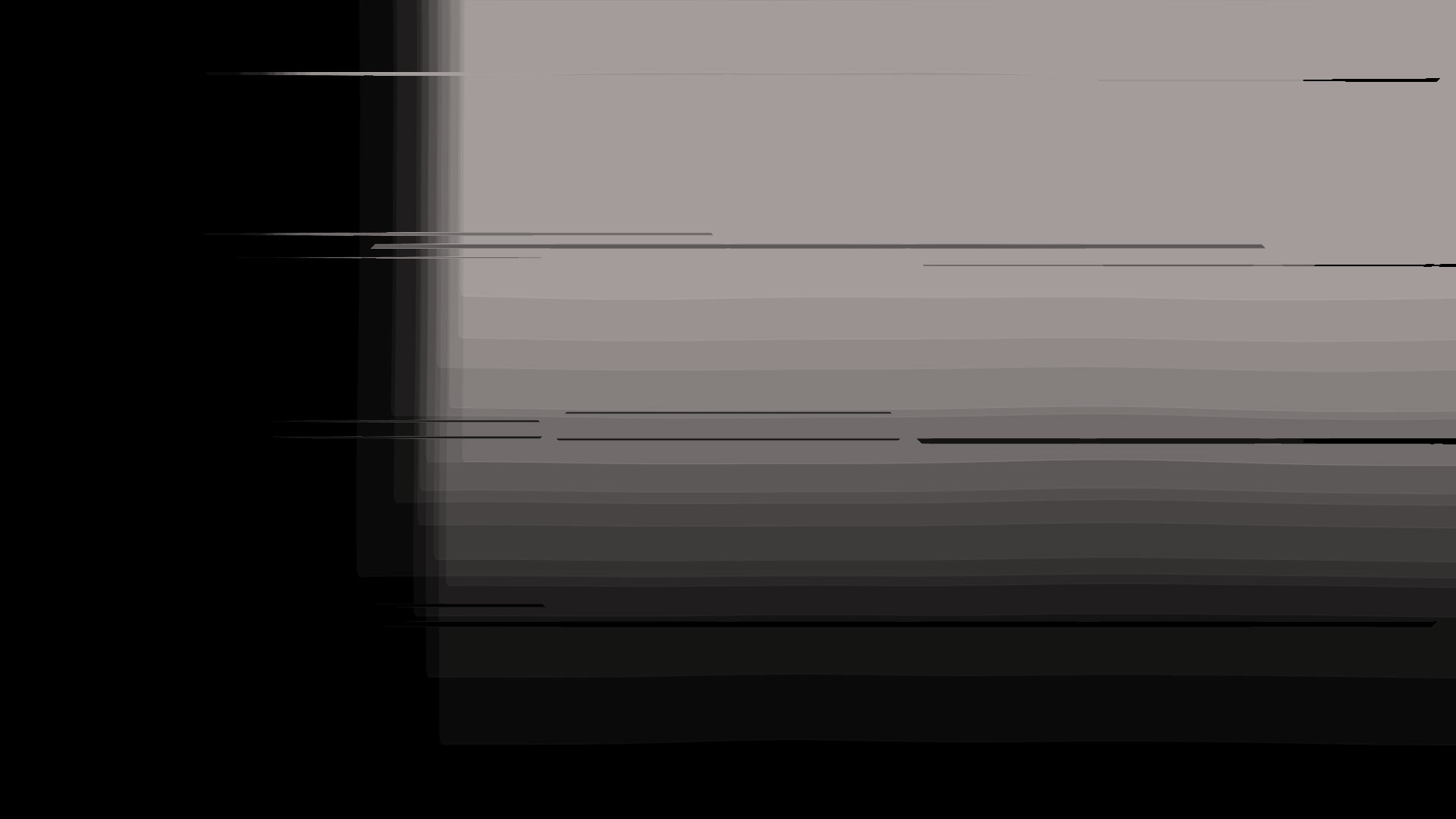 Abstract black and white structure with glitch effect.